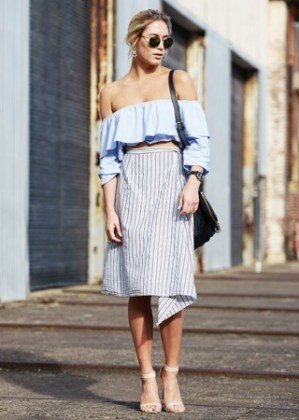 blue-stripe-off-shoudler-top