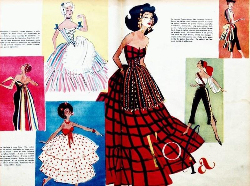 Ilustração de Alceu Penna nos anos 50