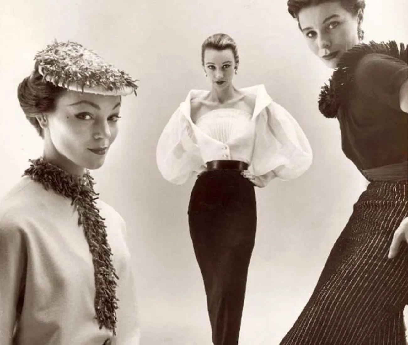 Modelos Givenchy anos 50