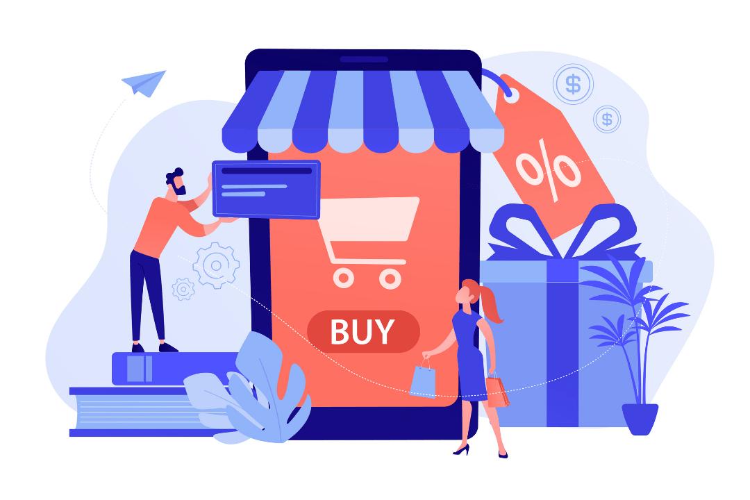 Imagem de uma loja virtual.