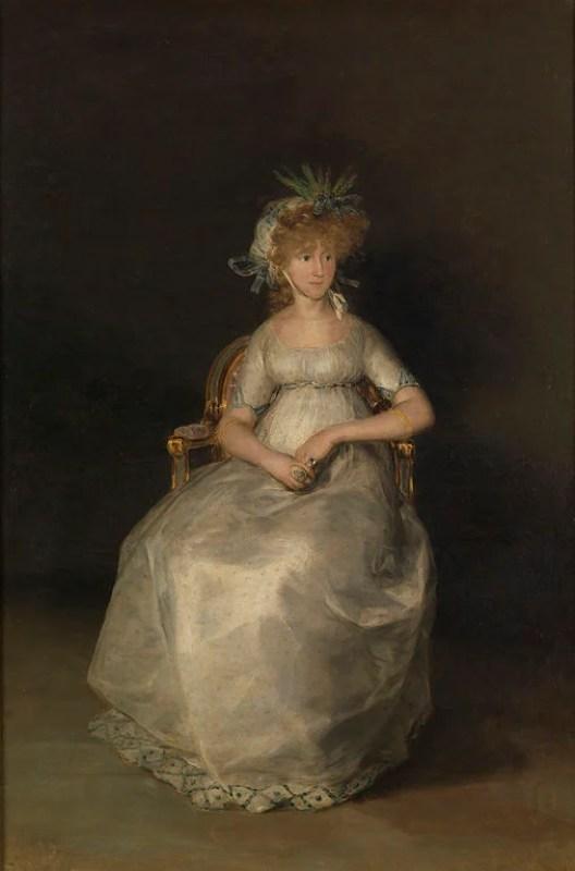 Retrato de María Teresa de Borbón y Vallabriga, de 1800, vestida com a moda império.