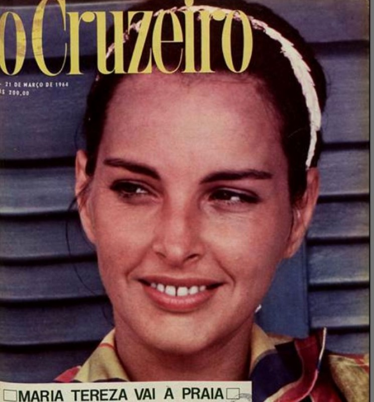 Maria Thereza Goulart na revista O Cruzeiro, em 1964.