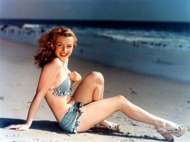 Marylin Monroe como modelo antes da fama.