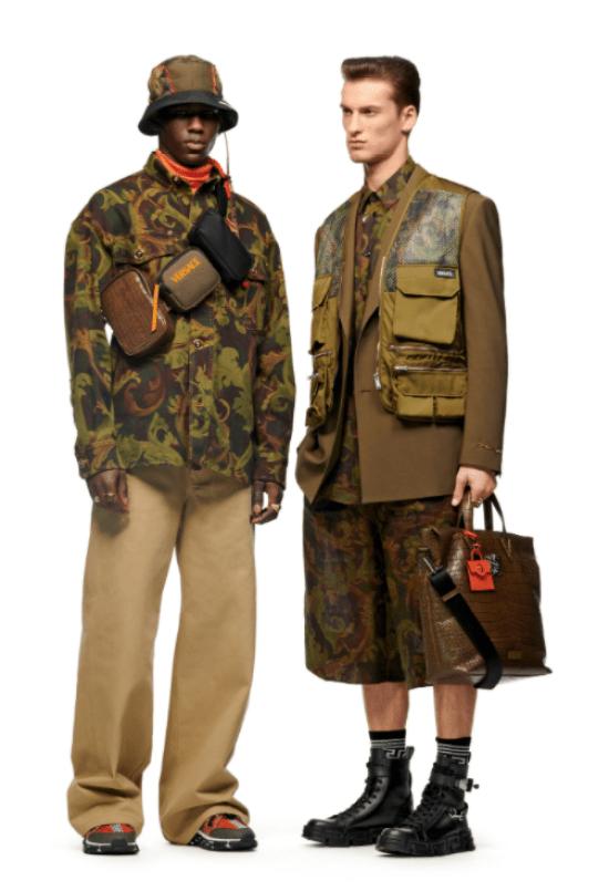 Bolsa masculina: look esquerda camisa com 3 bolsas transpassada, look da esquerda bolsa de mão e colete.s