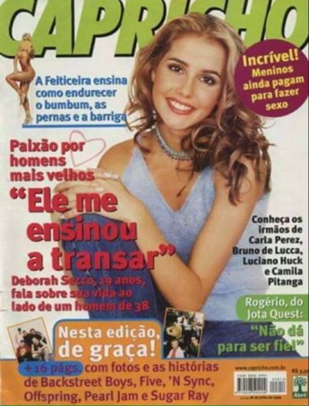 Capa da Revista Capricho da década de 90.