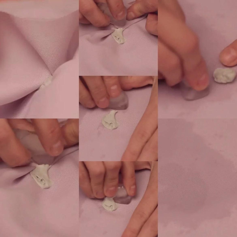 Como tirar chiclete de roupa