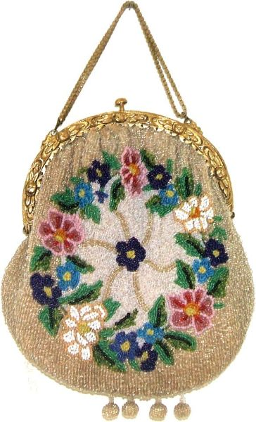 EARLY VICTORIAN BEADED PURSE