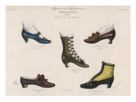 Sapatos da era vitoriana