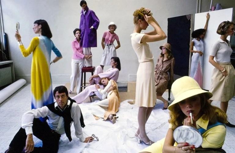 Halston e modelos