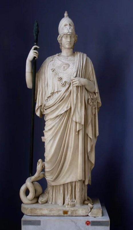 Estátua da deusa grega Atena.