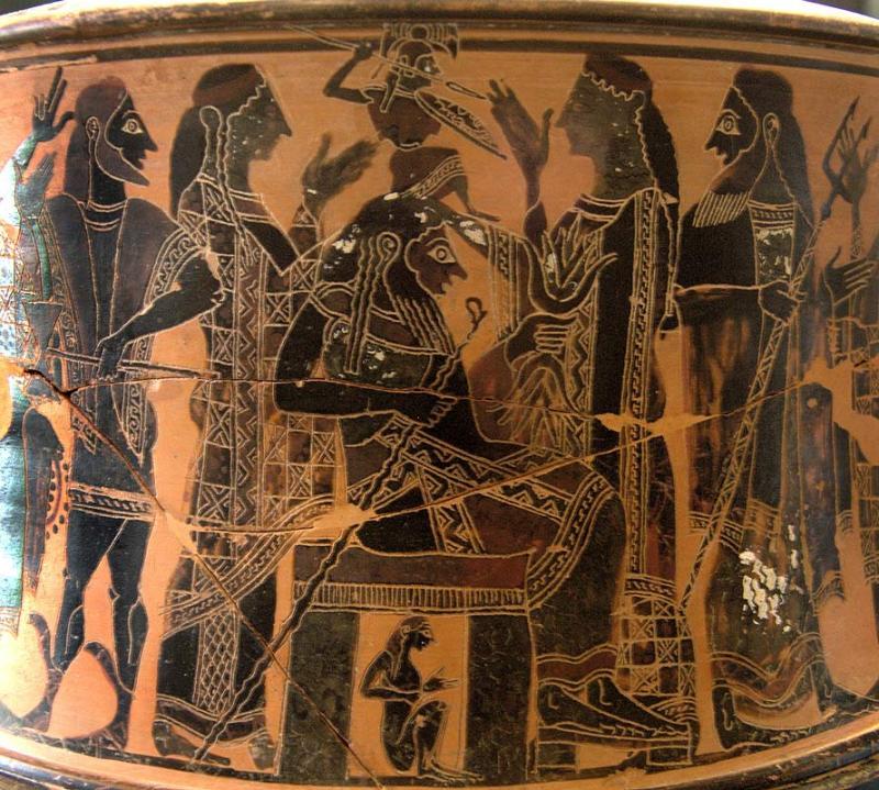 Nascimento da deusa grega Atena, cerca de 570-560 a.C.