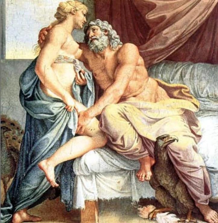 Jupiter e Juno (Zeus e Hera). Annibale Carracci (1560-1609).