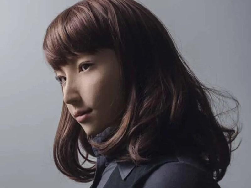 Robô Retrato da robô Erica de Hiroshi Ishiguro.