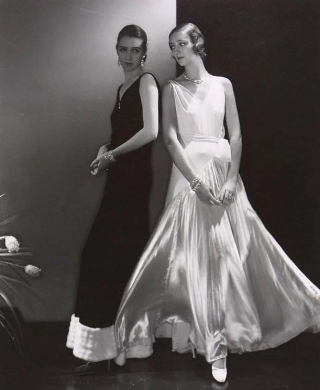 Vestidos de noite de Madeleine Vionnet para a revista Vogue, 1930.