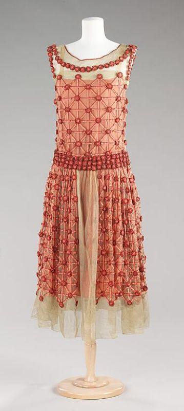 "Vestido de seda de Jeanne Lanvin ""Roseraie"", 1923."