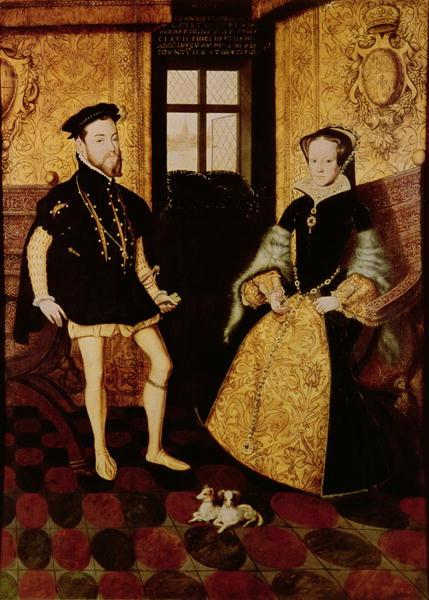 Retrato do Rei Felipe II da Espanha e sua segunda esposa, Maria I da Inglaterra.