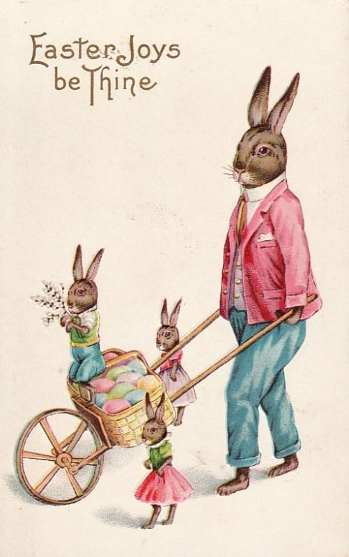 Cartão postal com ovos de Páscoa, c. 1915.