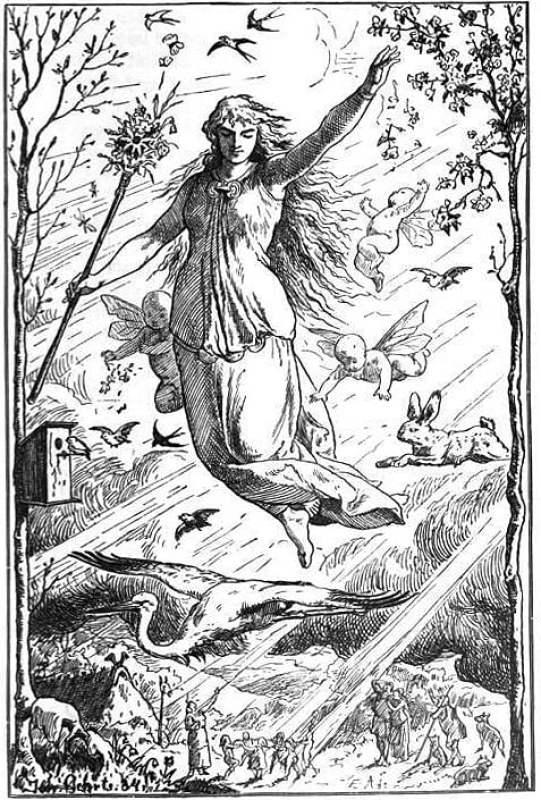 Ostara, ilustração publicada em 1901.