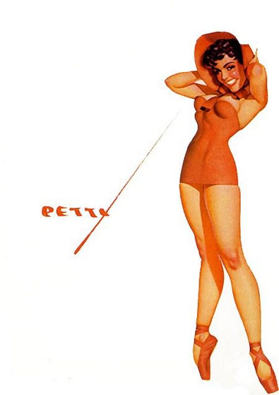 Ilustração pin-up de George Petty publicada na Revista Esquire em 1945.
