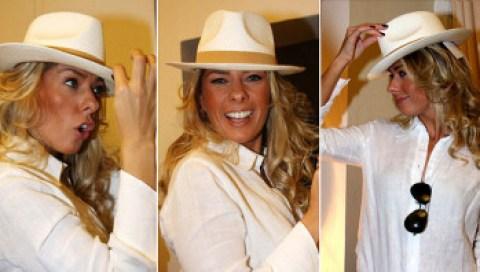 Adriane Galisteu de chapéu