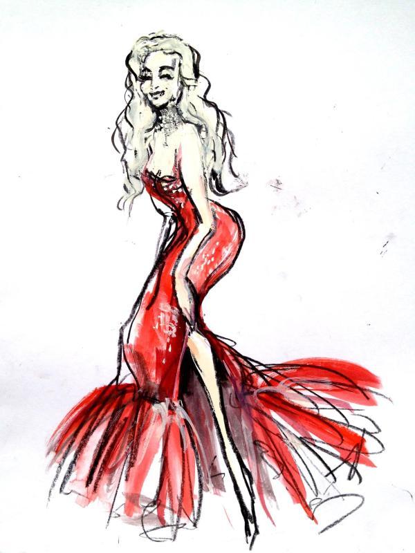 """Ilustração de Dee Milo por Luma Rouge, intitulada """"The Venus of Dance""""."""