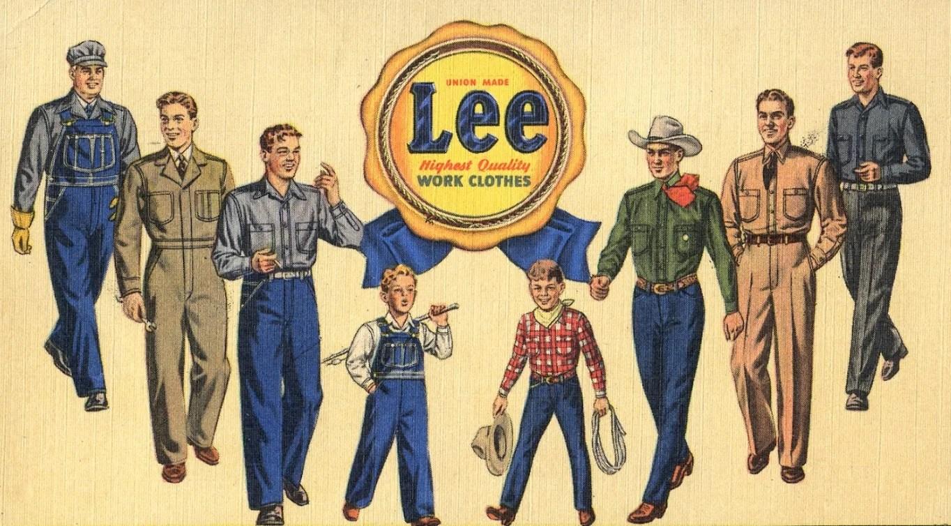 Publicidade Jeans Lee. História do Jeans.