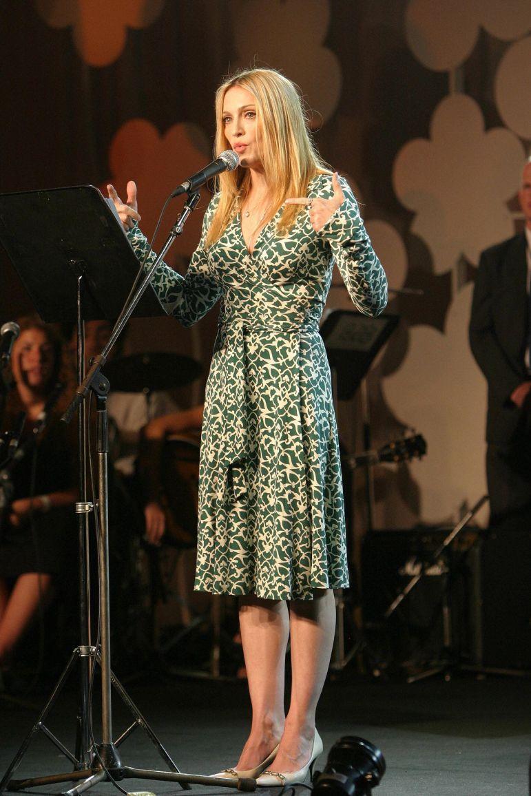 Madonna wrap dress