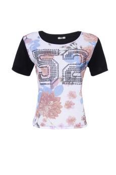 camiseta sport floral R$ 29,90_425x640