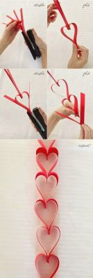 Como fazer uma tira para cortina de corações - decor dia dos namorados