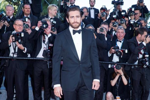 Membro do júri, o ator Jake Gyllenhaal, vestiu abotoaduras Montblanc em ouro vermelho e ônix