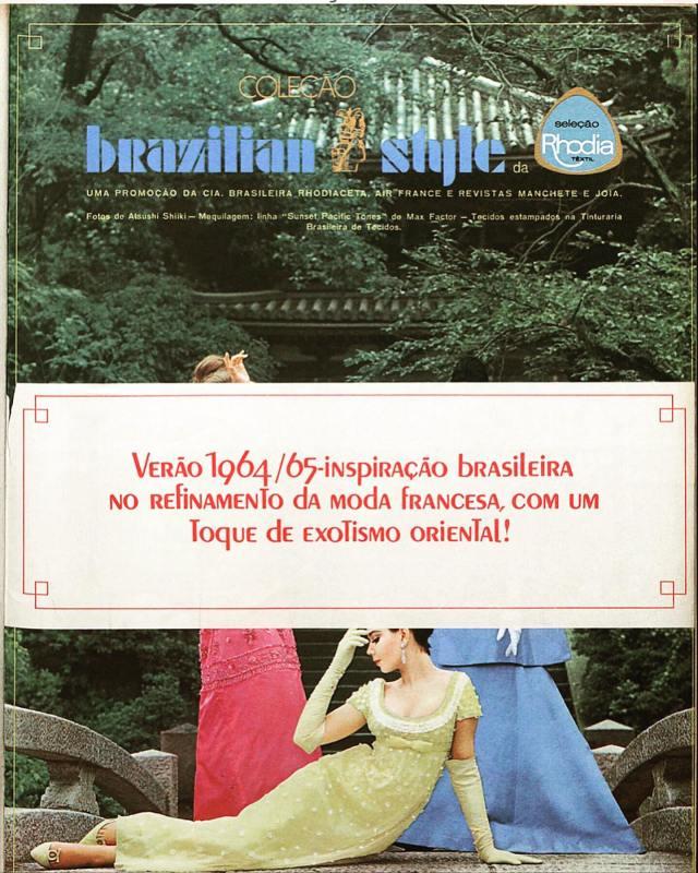 """Publicidade da coleção """"Brazilian Style"""" da Rhodia."""
