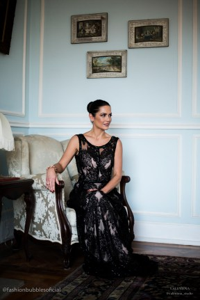 Editorial fotos Vestidos de festa Fashion BUbbles - Longo Preto Printing (4)