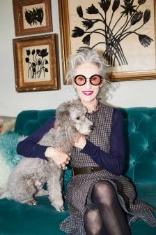 Linda Rodin e seu cachorro