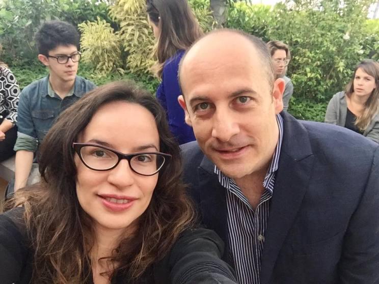 Denise Pitta e Alecssandro Megido, diretor do IED Brasil
