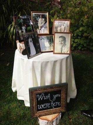 decoração com fotos casamento informal