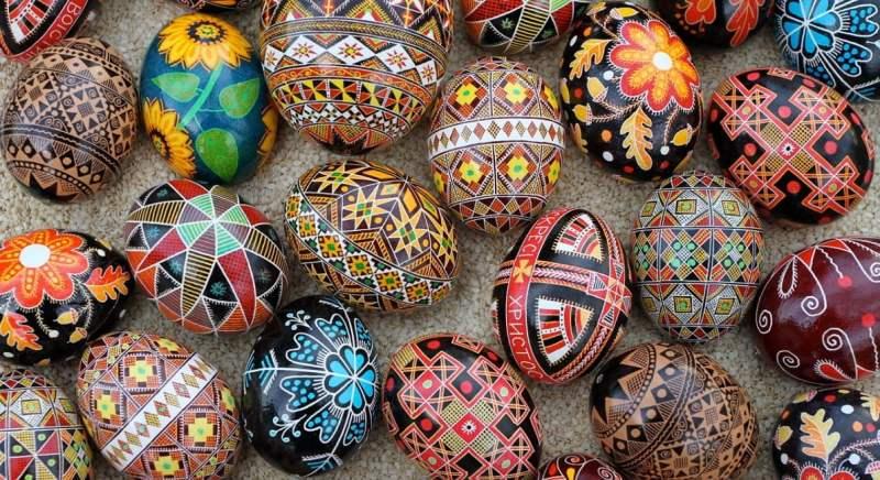 Ovos de Páscoa tradicionais da Ucrânia.