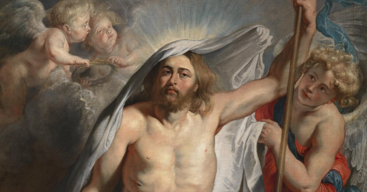 """Fragmento do quadro """"A Ressurreição de Jesus"""" de Pieter Paul Rubens, c. 1616."""