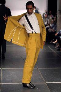 looks masculinos em amarelo mostarda