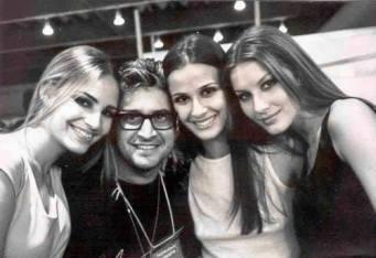 Fernanda Tavares, Juliana Galvão e Gisele Bundchen by Gustavo Malheiros para exposição backstage BarraShopping