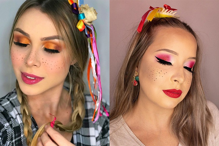 Maquiagem junina: dicas, cores, formatos para você arrasar nas festas de São João