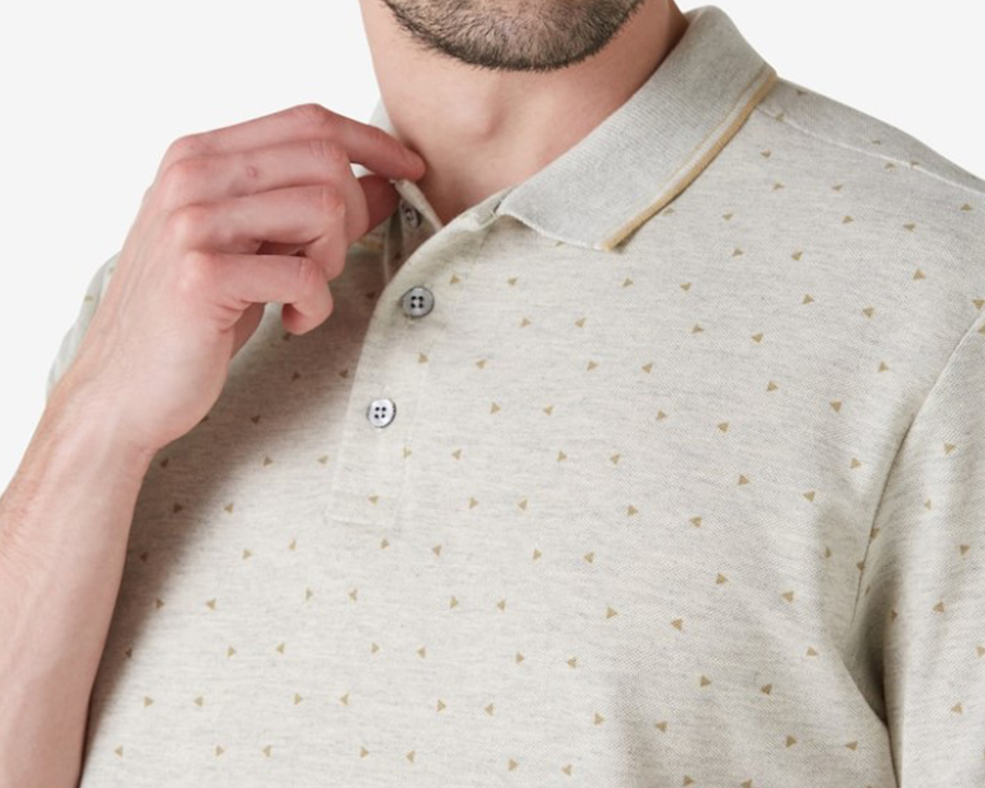 Camisa polo bege