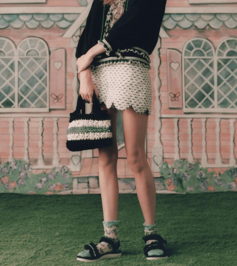 Bolsa de crochê da Anna Sui SS 21