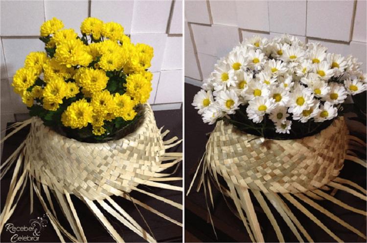 decoração para festas juninas com flores