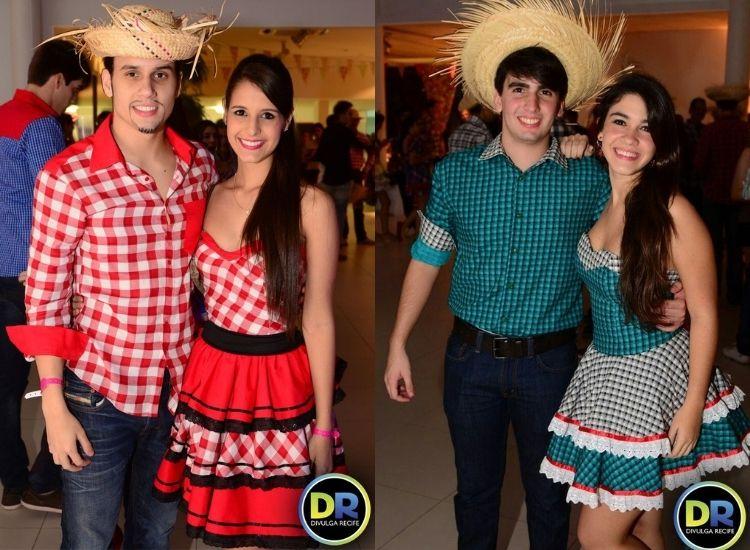 trajes de festa junina para casal