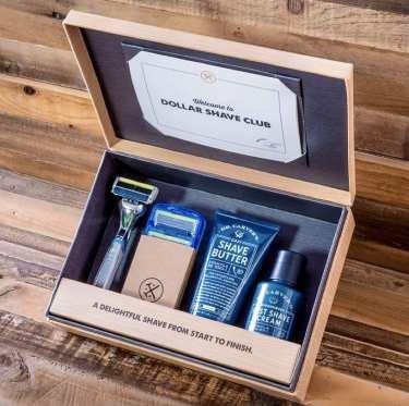 Kit para barbear azul