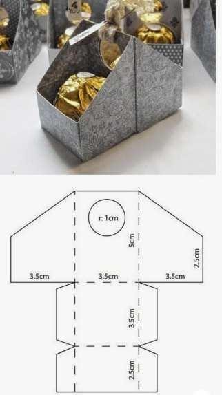 Molde caixa para presentes