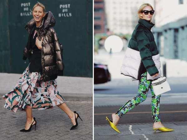 Looks de inverno com peças estampas e coloridas