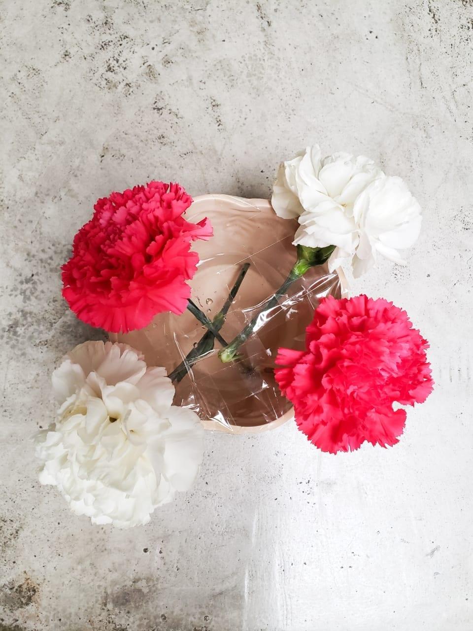 Mesa posta - como montar um vaso de flor fácil e simples