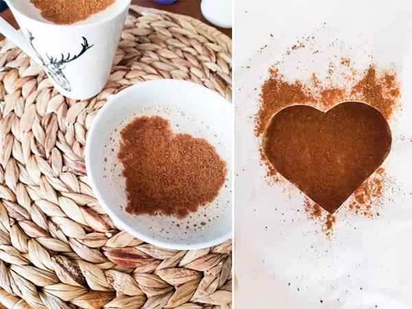 jantar romantico dia dos namorados café com coração