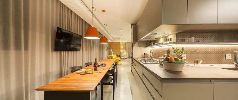 Projeto de cozinha decorada por Sala decorada da Arquiteta Sabrina Wernicke